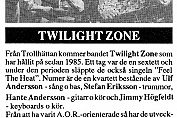 Twilight Zone - Vi Som Vill Opp! (Backstage #11 - 1991)
