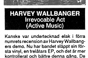 "Harvey Wallbanger - Irrevocable Act 7"" Review in Backstage #11 - 1991"