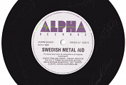 Swedish Metal Aid autographed single